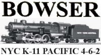 Bowser 4-6-2 K-11 Pacific Instructions