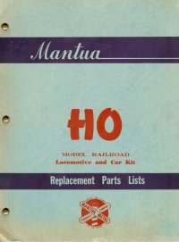 Mantua Parts Book 1953